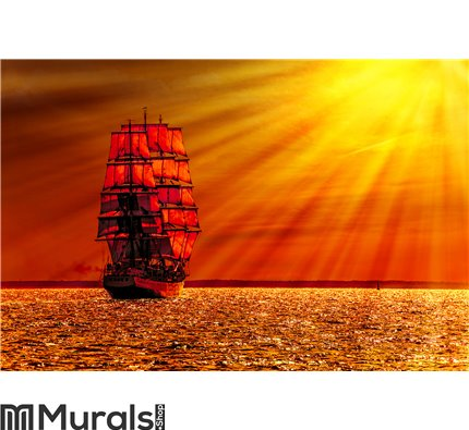 Sailing ship on the sea Wall Mural Wall art Wall decor