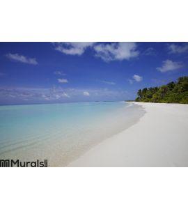 Sand Beach Maldives Wall Mural