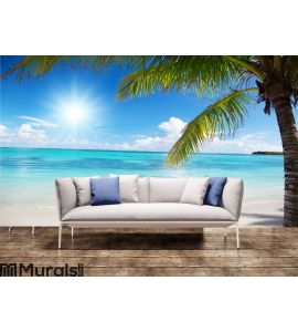 Sea and coconut palm Wall Mural Wall art Wall decor