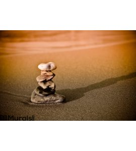 Stone stack. Zen symbol of luck and calming Wall Mural Wall art Wall decor