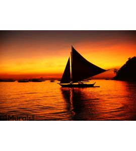 Sunset in Boracay Wall Mural