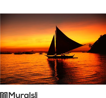 Sunset in Boracay Wall Mural Wall art Wall decor
