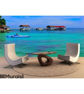 Tour to beautiful tropical island Wall Mural Wall art Wall decor