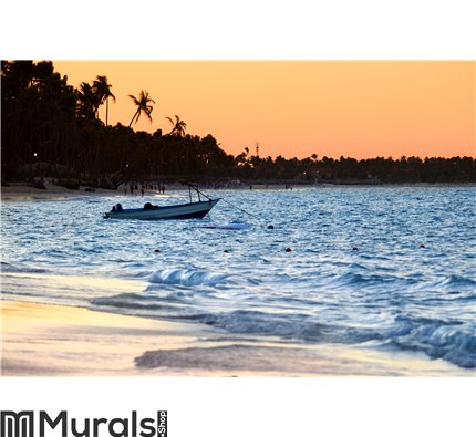 Tropical beach at sunset Wall Mural Wall art Wall decor