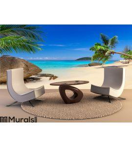 Tropical beach scenery Wall Mural