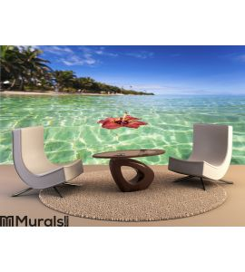 Tropical island Wall Mural Wall art Wall decor
