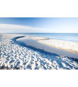 White sand beach - Denmark Wall Mural