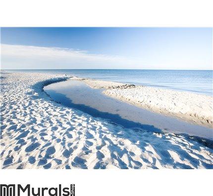 White sand beach - Denmark Wall Mural Wall art Wall decor