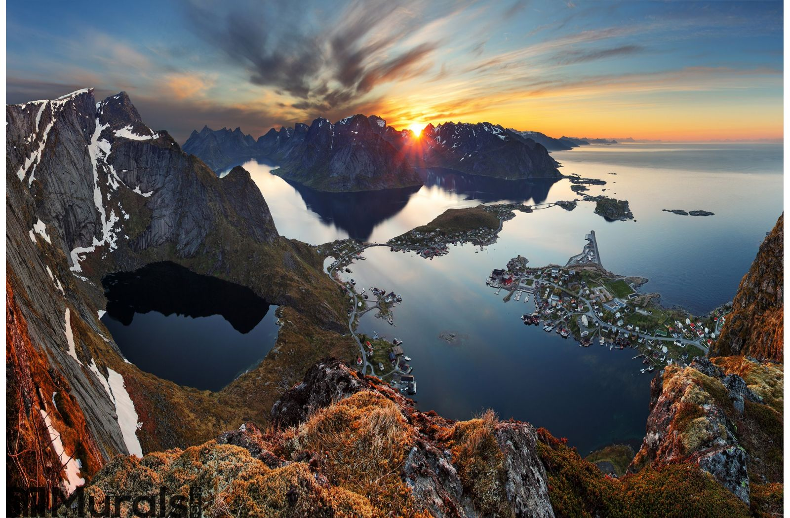 Nature panorama mountain landscape at sunset norway wall mural amipublicfo Gallery