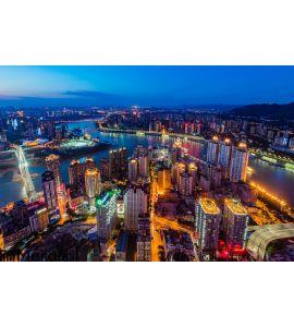 The night scenes of Chongqing Wall Mural
