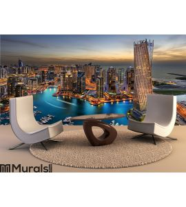 Dubai Marina Wall Mural Wall art Wall decor