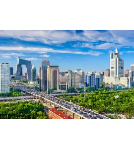 Beijing, China CBD Cityscape Wall Mural