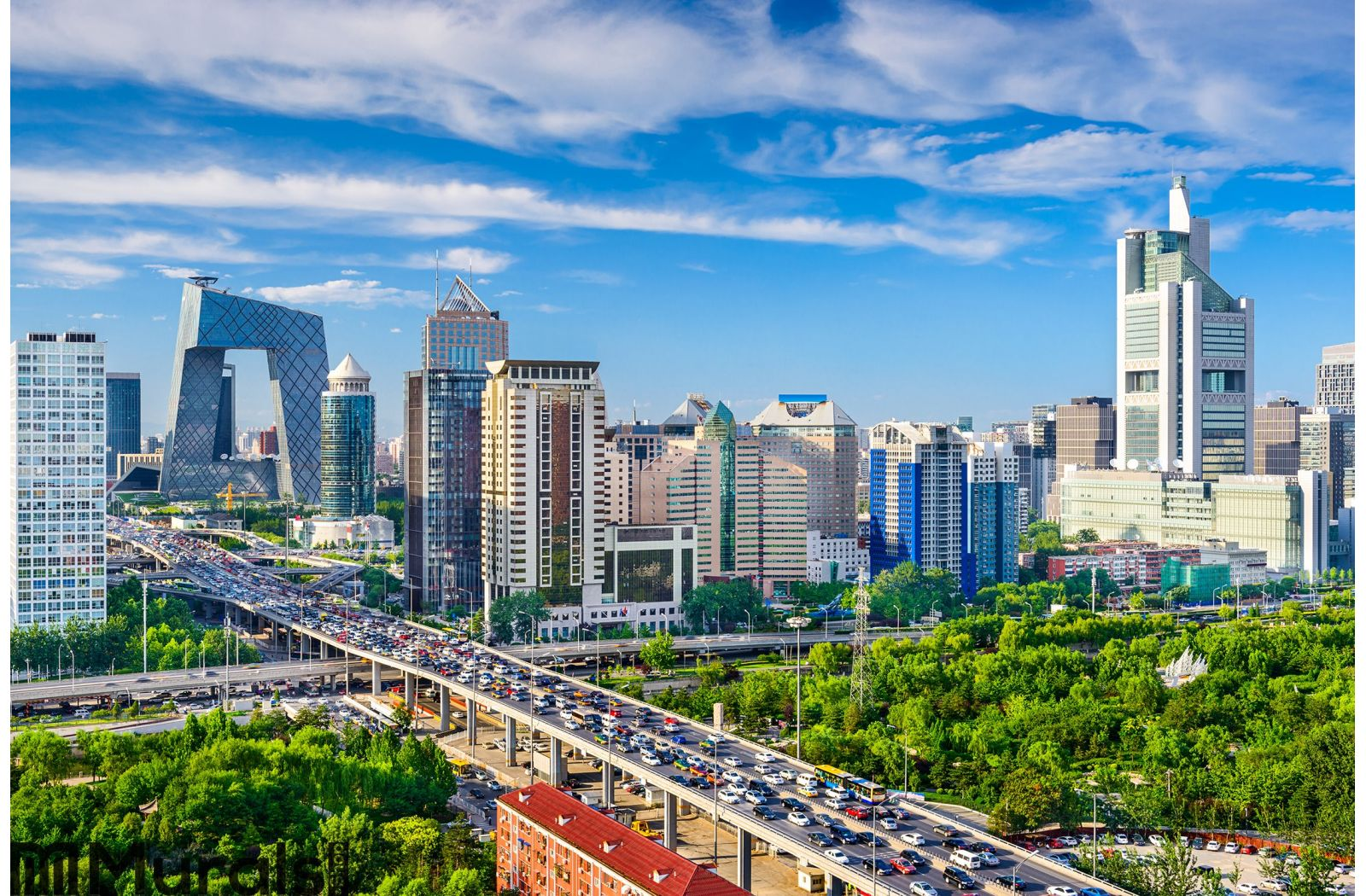 Beijing China Cbd Cityscape Wall Mural