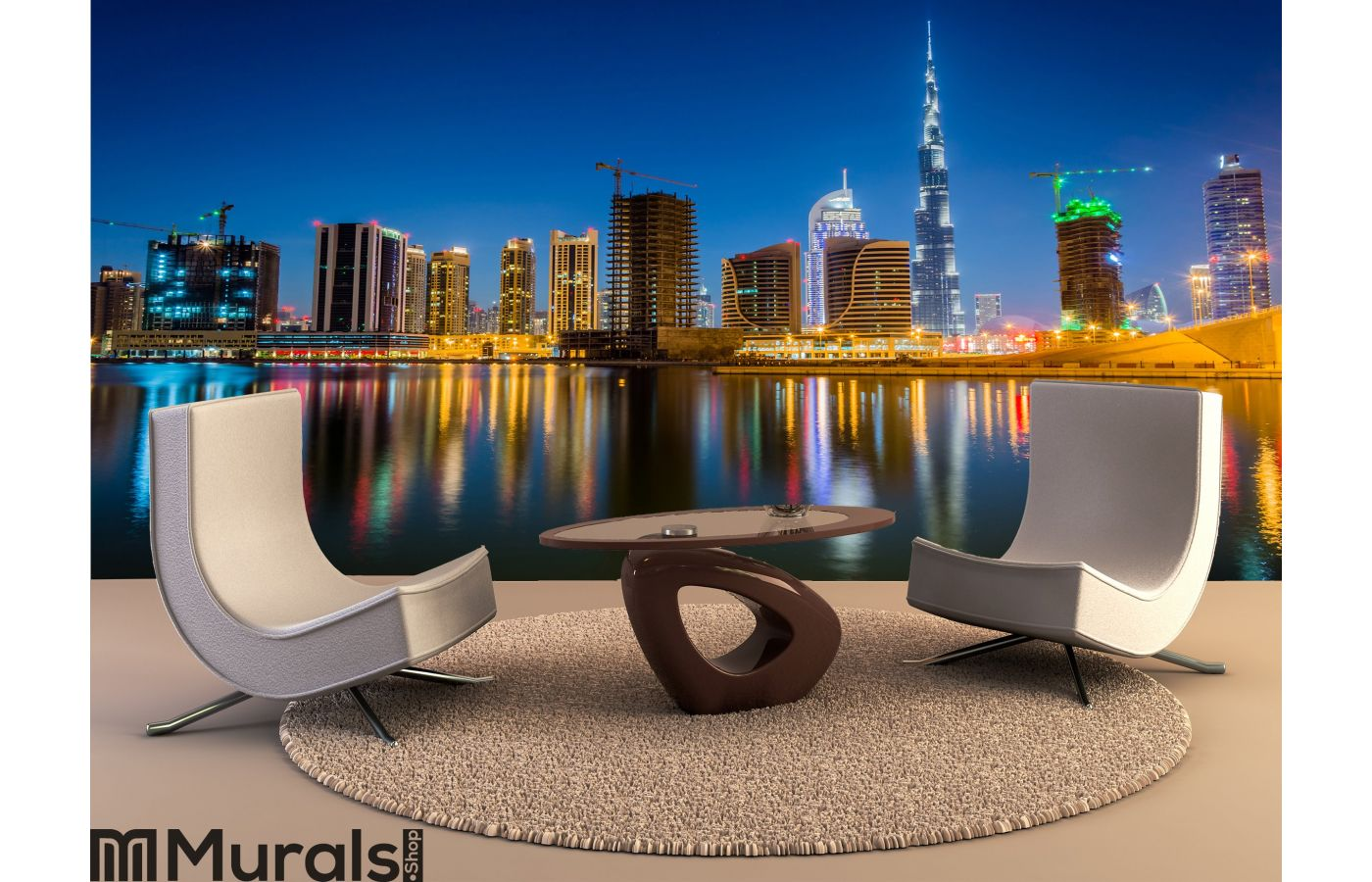 Dubai Skyline Wall Mural