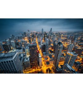 Chicago Skyline Wall Mural Part 45