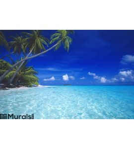 tropical beach maldives Wall Mural
