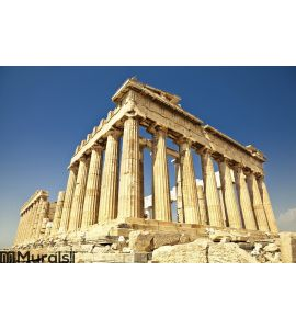 Parthenon on the Acropolis in Athens, Greece Wall Mural