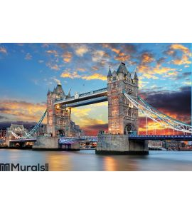Tower Bridge in London, UK Wall Mural Wall art Wall decor