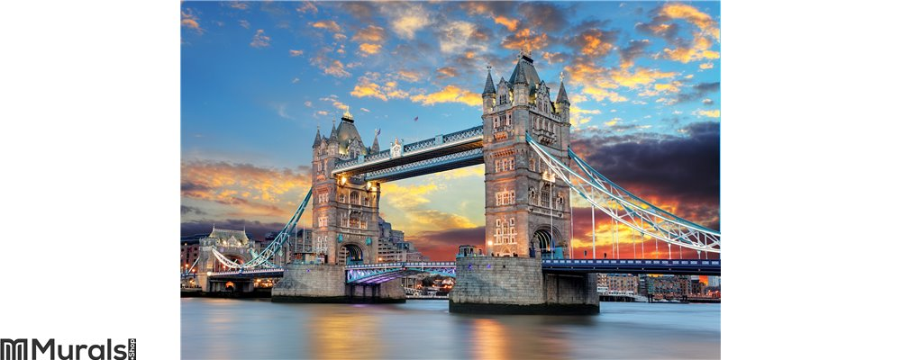 Tower Bridge in London, UK Wall Mural