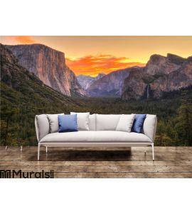 Breathtaking Yosemite national park at sunrise - dawn, California Wall Mural Wall art Wall decor