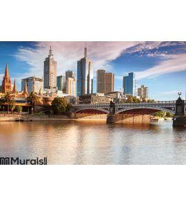 Melbourne Skyline Wall Mural