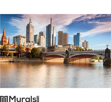 Melbourne Skyline Wall Mural Wall art Wall decor