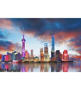 China - Shanghai skyline Wall Mural Wall art Wall decor
