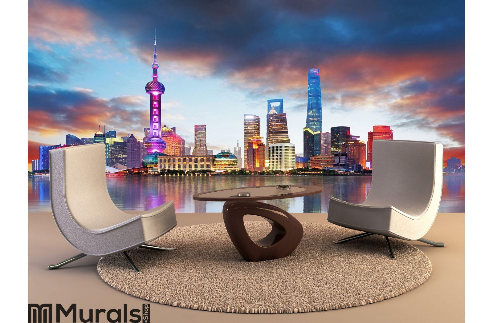 China Shanghai Skyline Wall Mural
