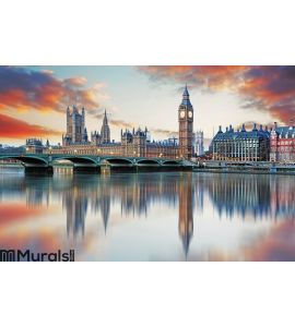 London - Big ben and houses of parliament, UK Wall Mural