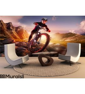 Mountain Bike cyclist riding Wall Mural Wall art Wall decor