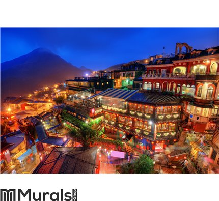 Taiwan Village Wall Mural Wall art Wall decor