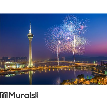 Macau Fireworks China Wall Mural Wall art Wall decor