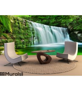 Lake Emerald Waterfalls Forest Landscape Wall Mural Wall art Wall decor