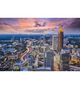 Atlanta Skyine Wall Mural