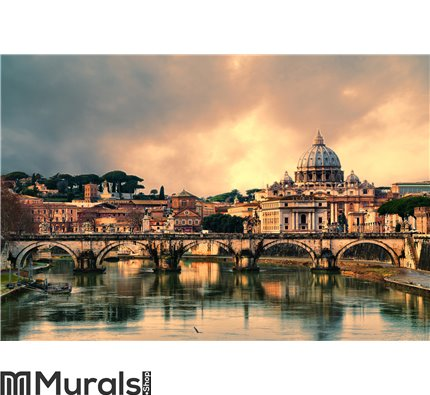 Sunset in Rome Wall Mural Wall art Wall decor