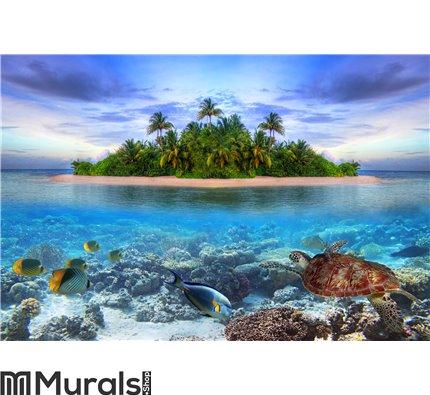 Tropical island of Maldives Wall Mural Wall art Wall decor