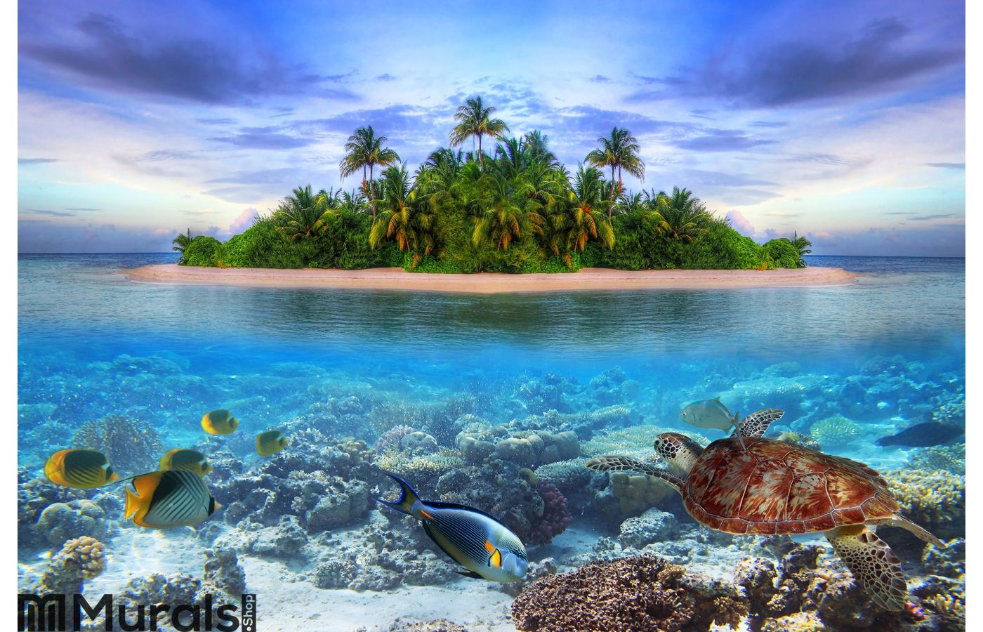 Tropical island of Maldives Wall Mural