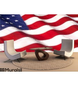 WAVING AMERICAN FLAG Wall Mural Wall art Wall decor