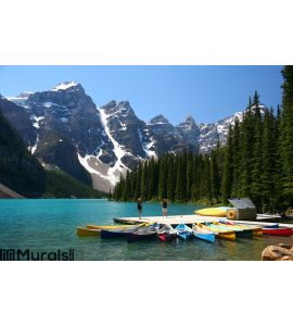 Moraine lake, Banff National Park, Canada Wall Mural
