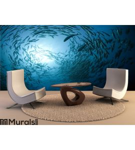 Fish in the ocean Wall Mural Wall art Wall decor