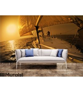 Sail boat Wall Mural Wall art Wall decor