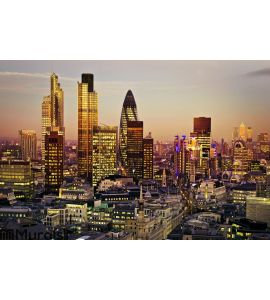 City of London Wall Mural Wall art Wall decor