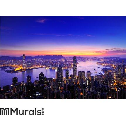 Sunrise of Victoria Harbour , Hong Kong Wall Mural Wall art Wall decor