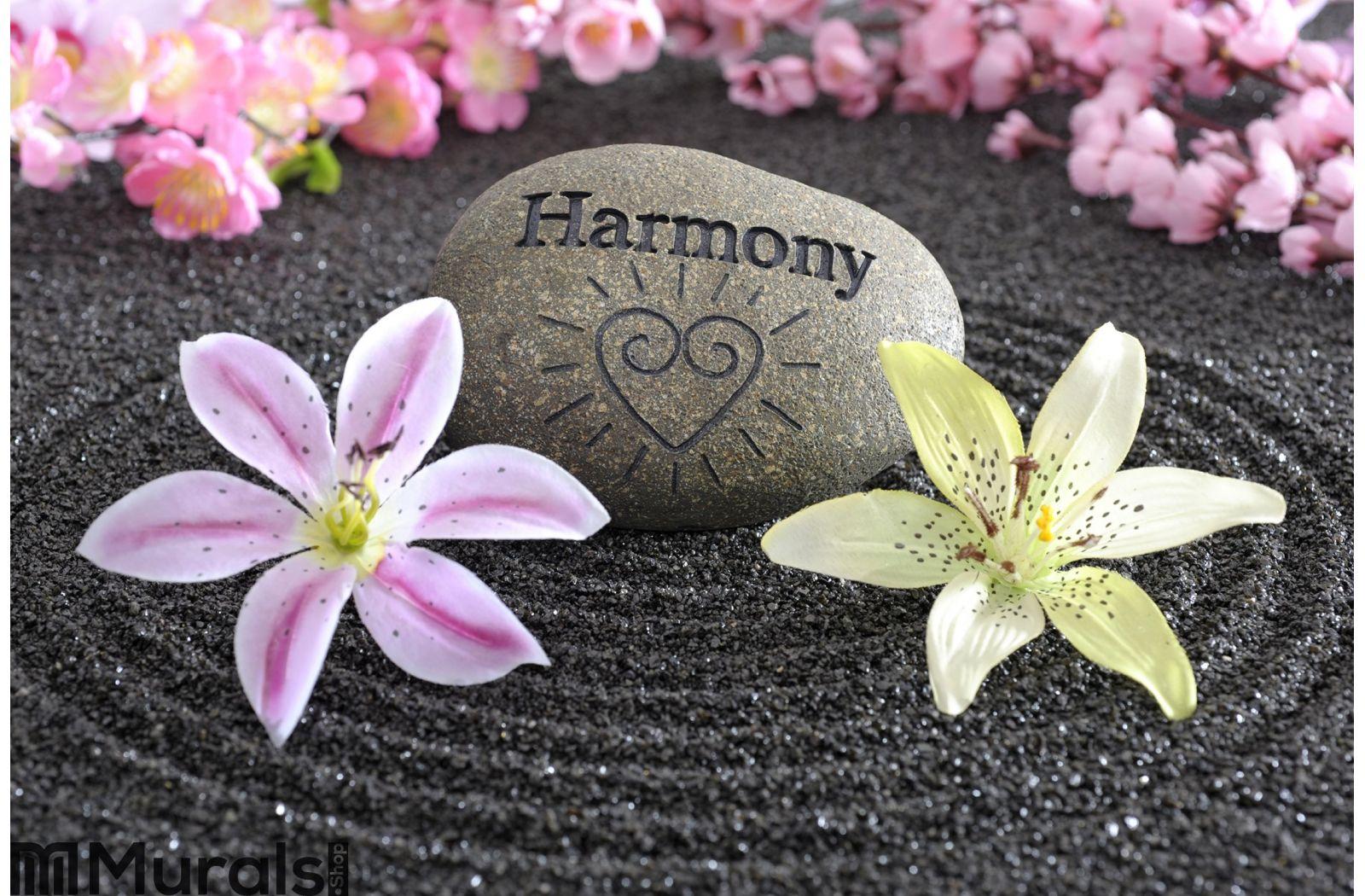 Zen garden of harmony Wall Mural