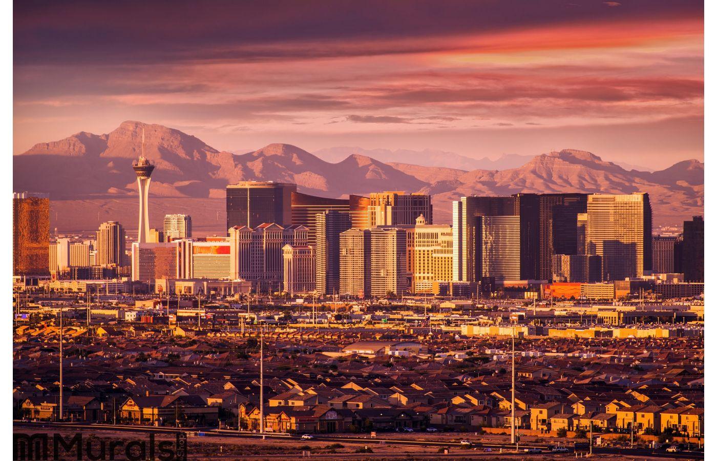 Las Vegas Strip Skyline Wall Mural
