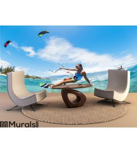 Kite Surfing Wall Mural Wall art Wall decor