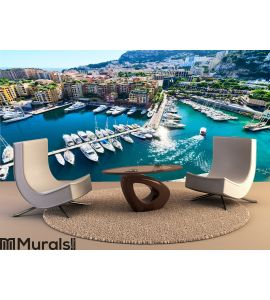 View on monaco harbor Wall Mural Wall art Wall decor