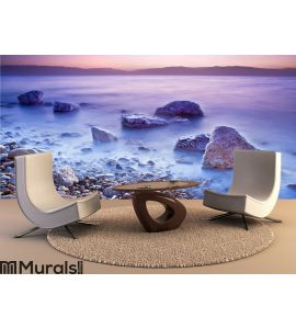 Sunrise over the dead sea Wall Mural Wall art Wall decor