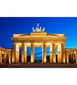 Brandenburg Gate in Berlin Wall Mural