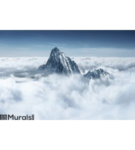 Mountain in the clouds Wall Mural